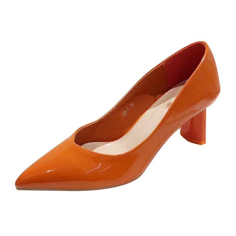 Ericdress Plain Chunky Heel Slip-On Pointed Toe Women's Pumps