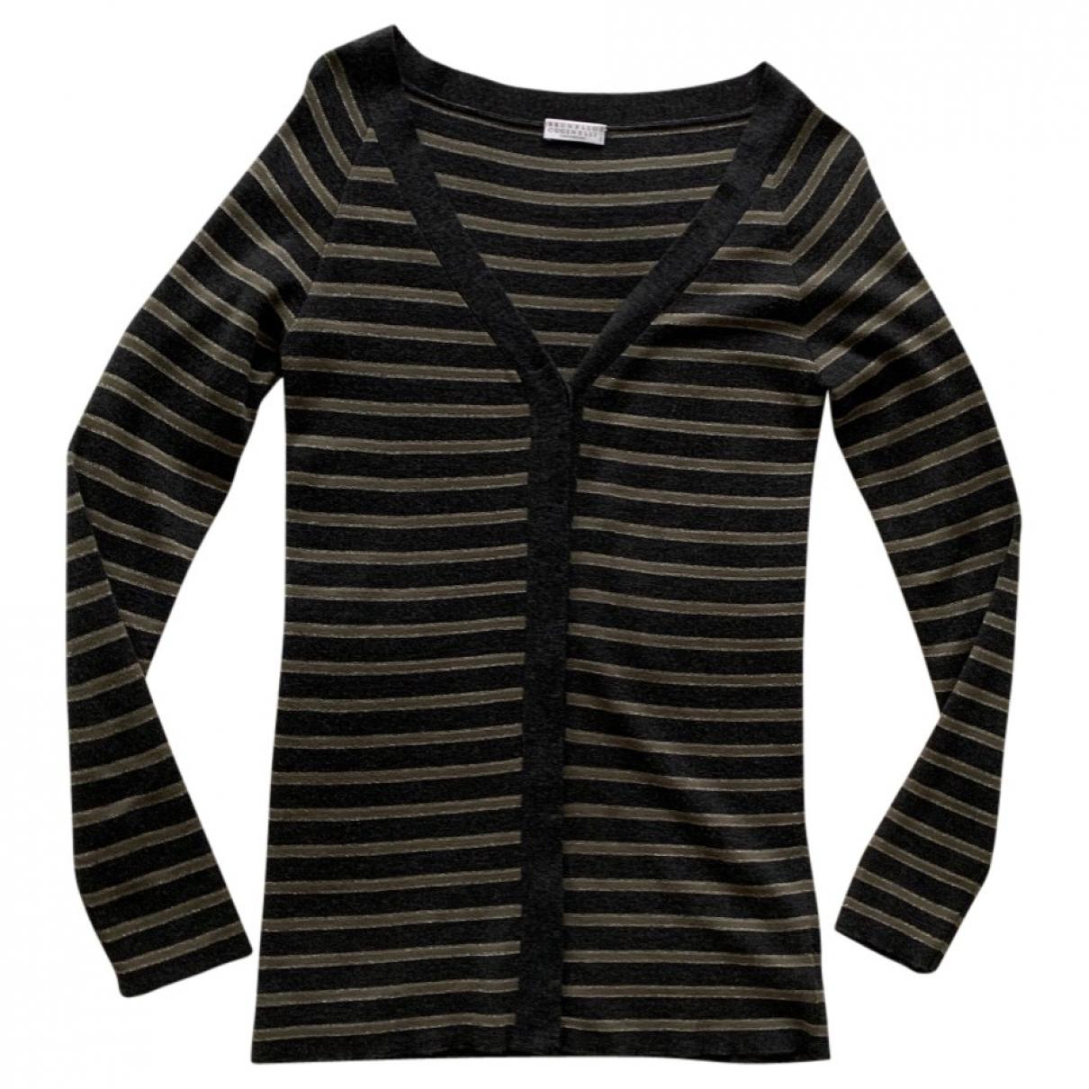 Brunello Cucinelli \N Grey Wool Knitwear for Women XL International