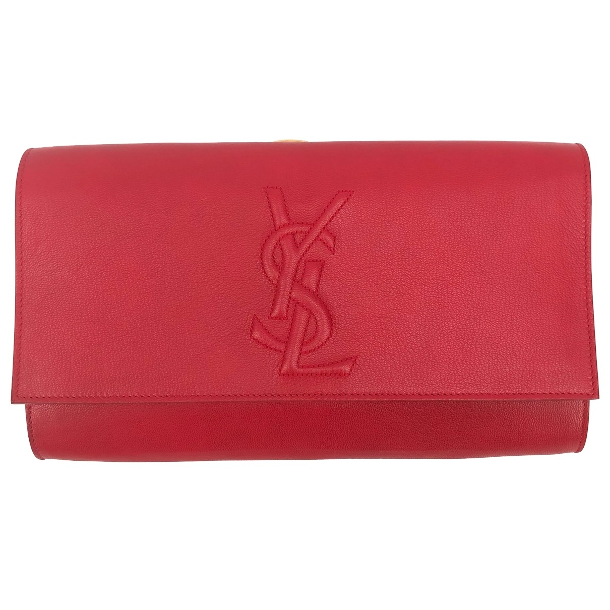 Yves Saint Laurent Belle de Jour Red Leather Clutch bag for Women \N