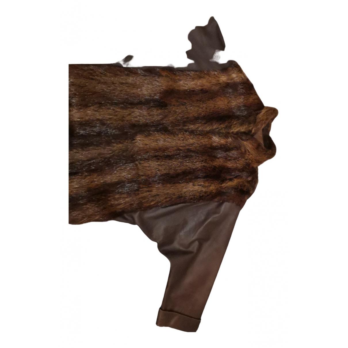 Autre Marque - Veste   pour femme en castor - marron