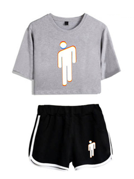 Milanoo Two Piece Sets Graphic Print Loungewear Outfit For Women