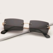 Rimless Sunglasses With Case