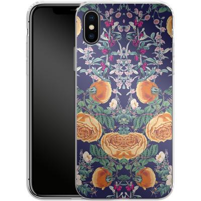 Apple iPhone X Silikon Handyhuelle - Midnight Spring von Zala Farah