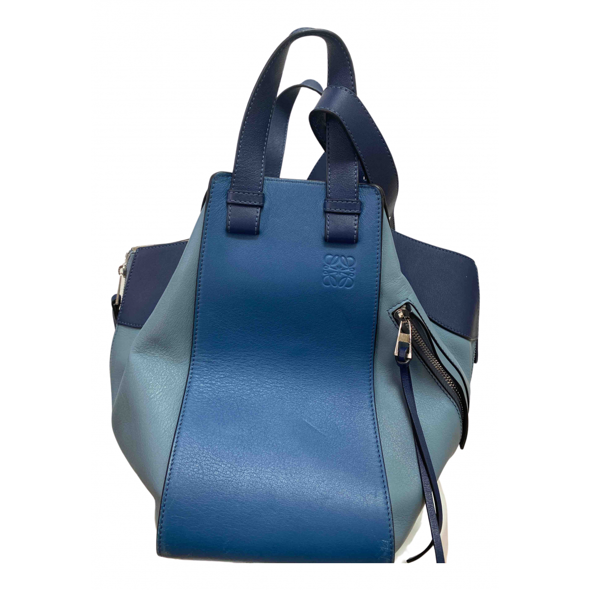Loewe Hammock Blue Leather handbag for Women \N