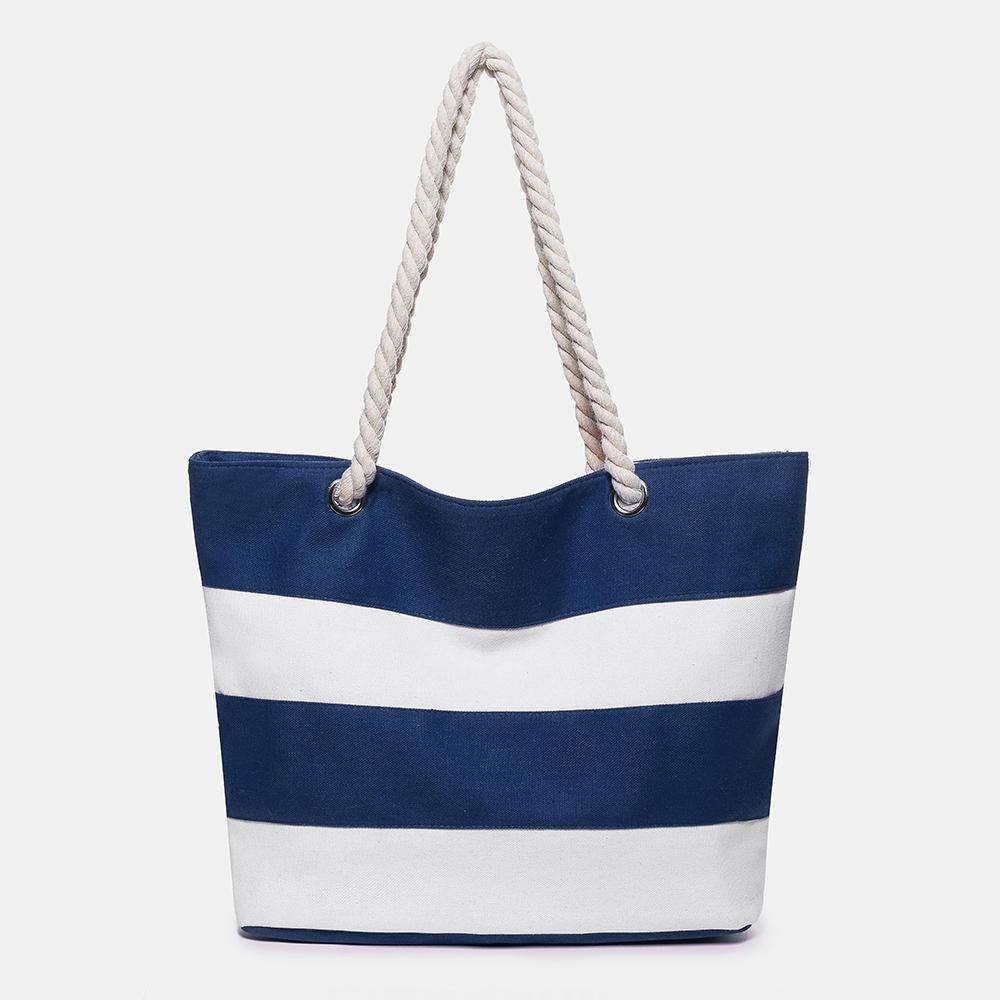 Women Canvas Beach Summer Shopping Tote Bag