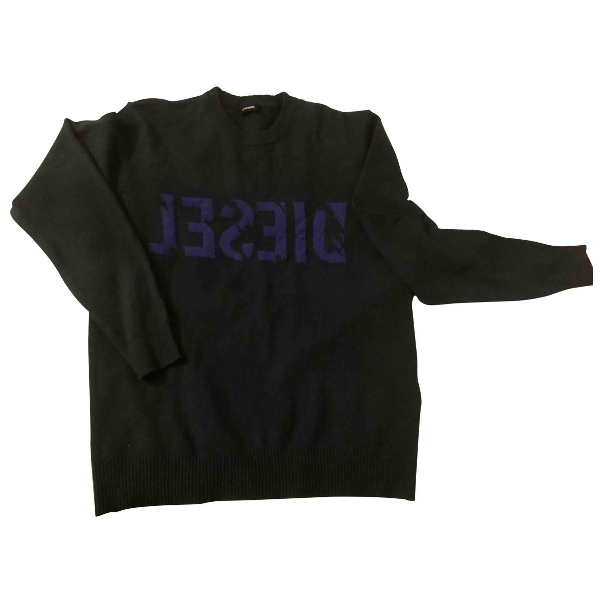 Diesel \N Pullover.Westen.Sweatshirts  in  Gruen Kaschmir