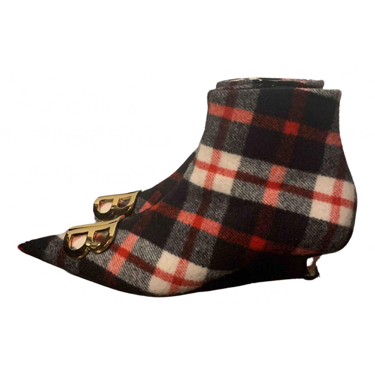 Balenciaga - Boots BB pour femme en toile - rouge