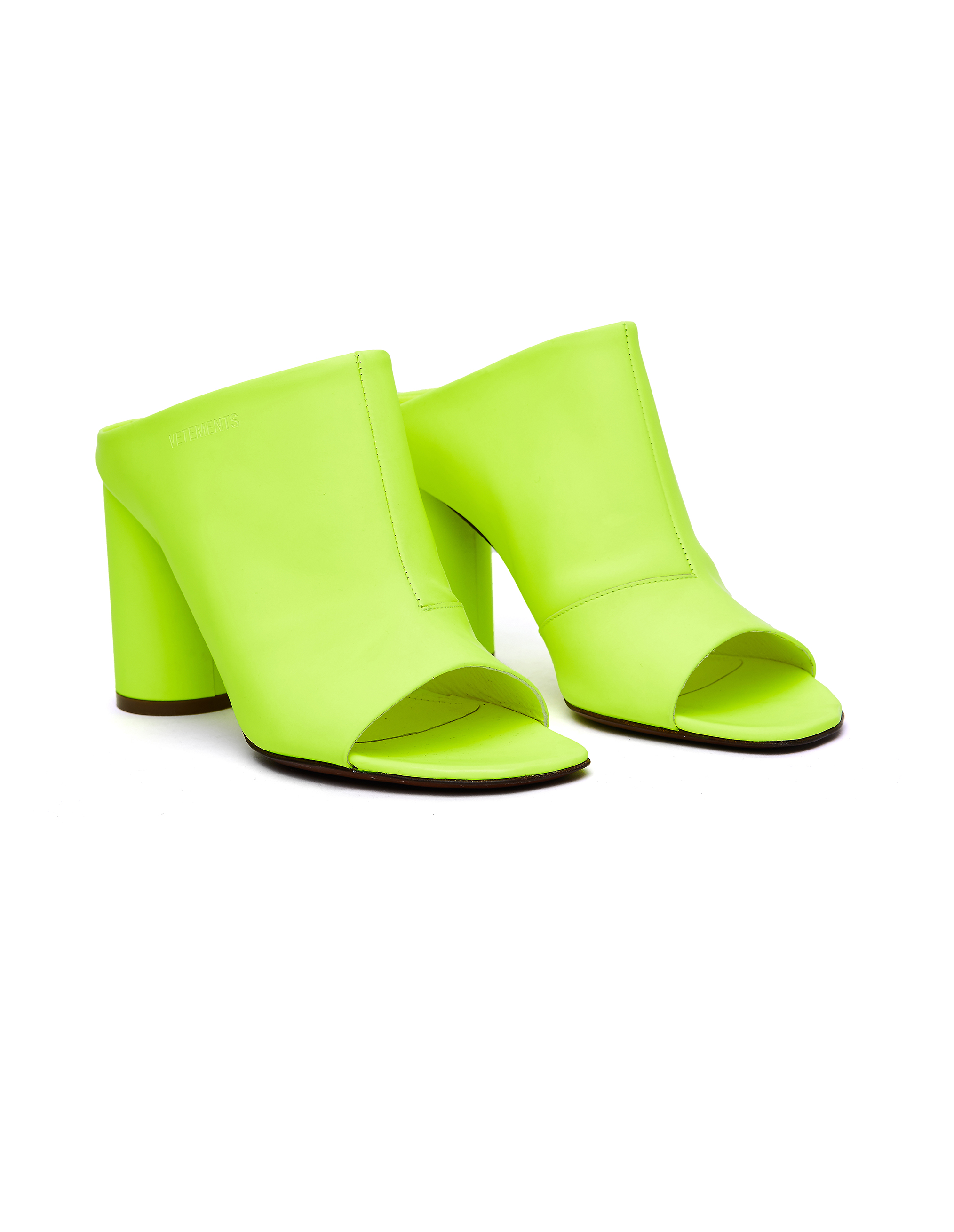 Vetements Neon Yellow Leather Shoes