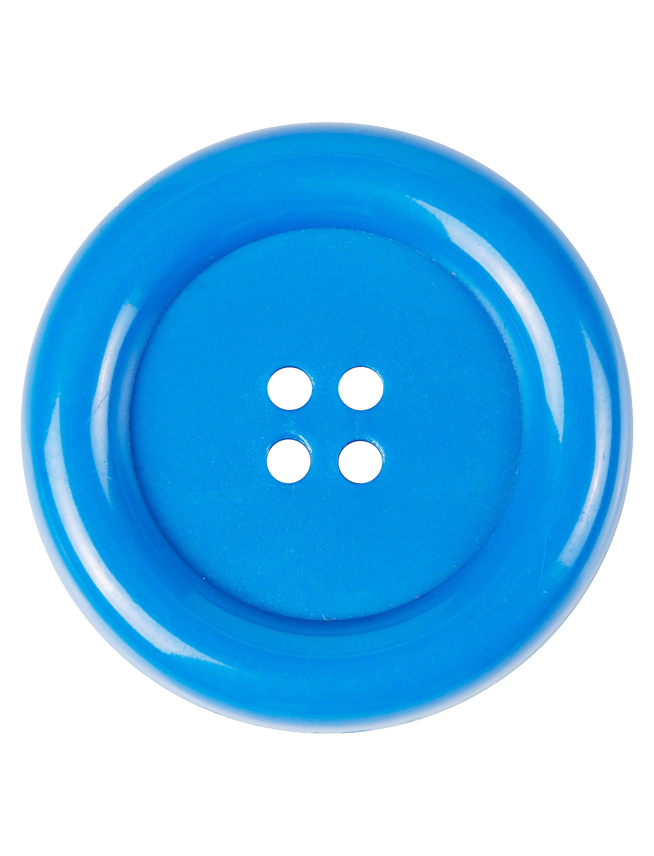 Kostuemzubehor Knopfe blau 4cm 4 Stk.
