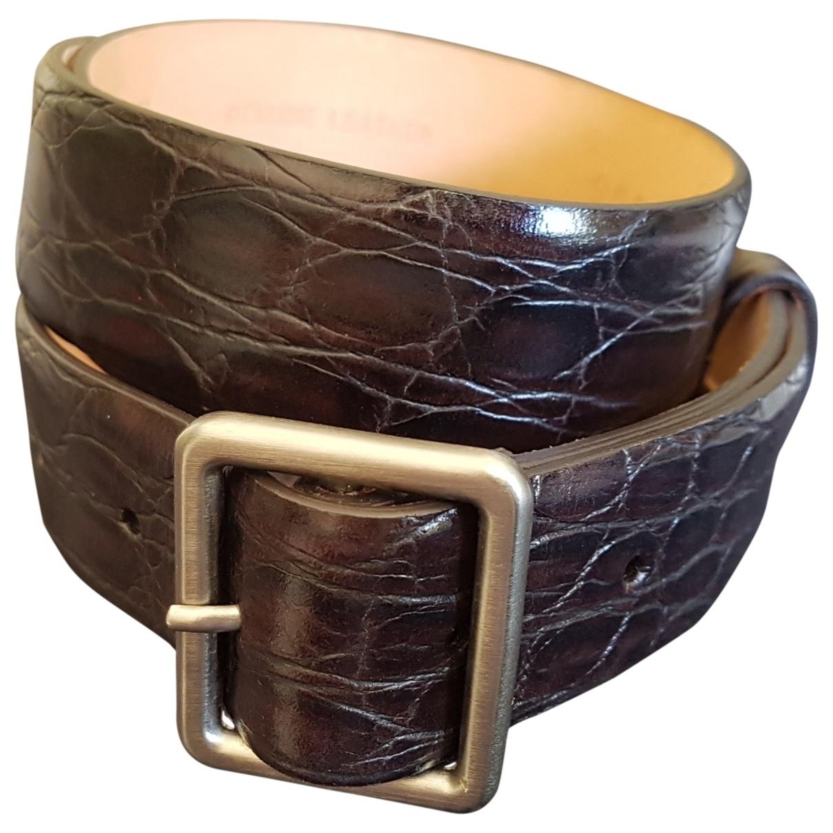 Cinturon de Cocodrilo Giorgio Armani