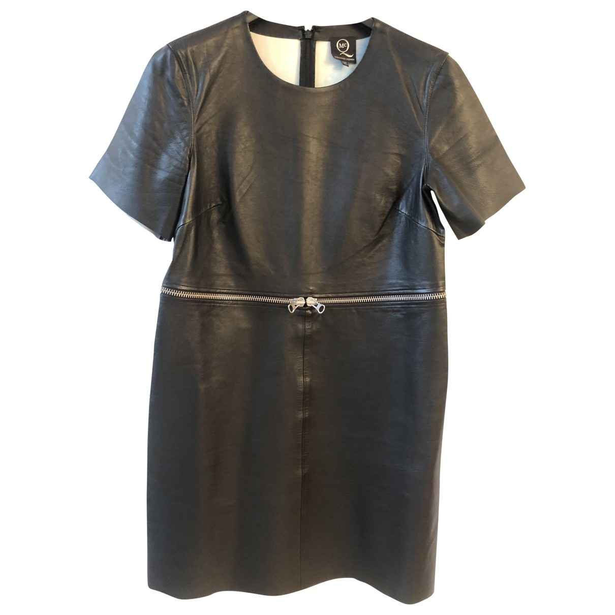Mcq \N Kleid in  Schwarz Leder