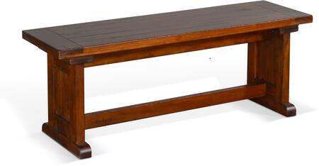 0113VM-SB BF Nook Side Bench  Wood Seat  in Vintage