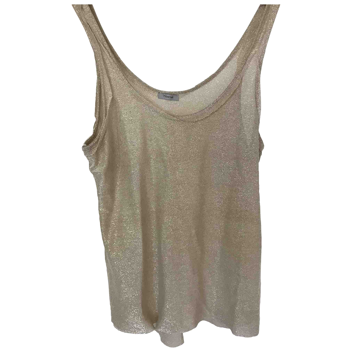 Non Signé / Unsigned \N Gold  top for Women S International