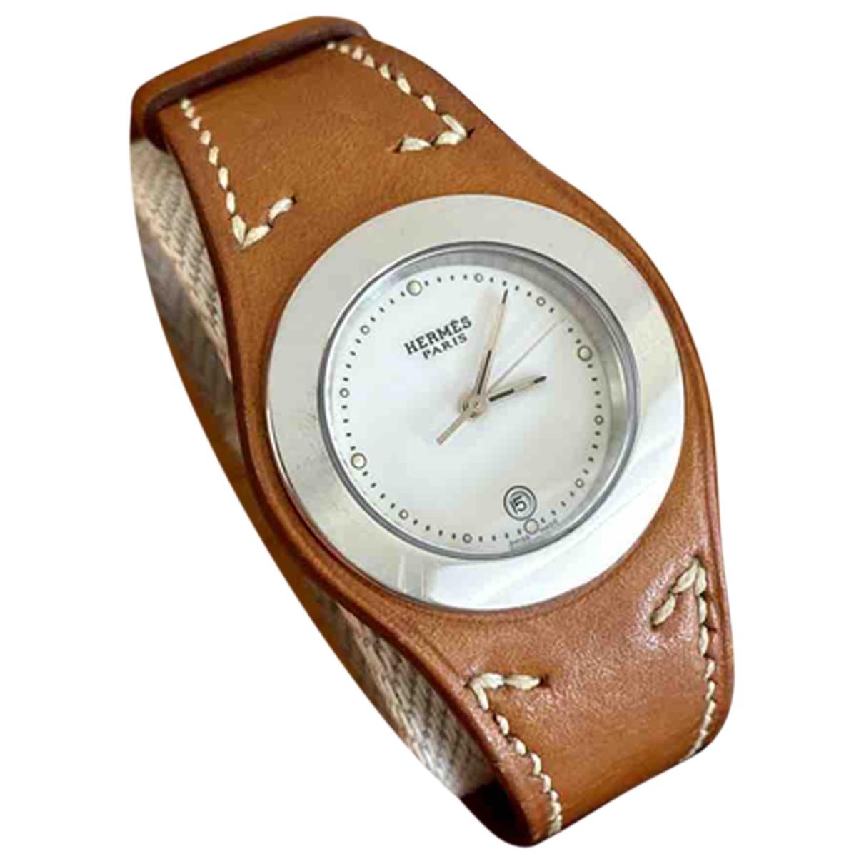 Hermès Harnais Camel Steel watch for Women \N