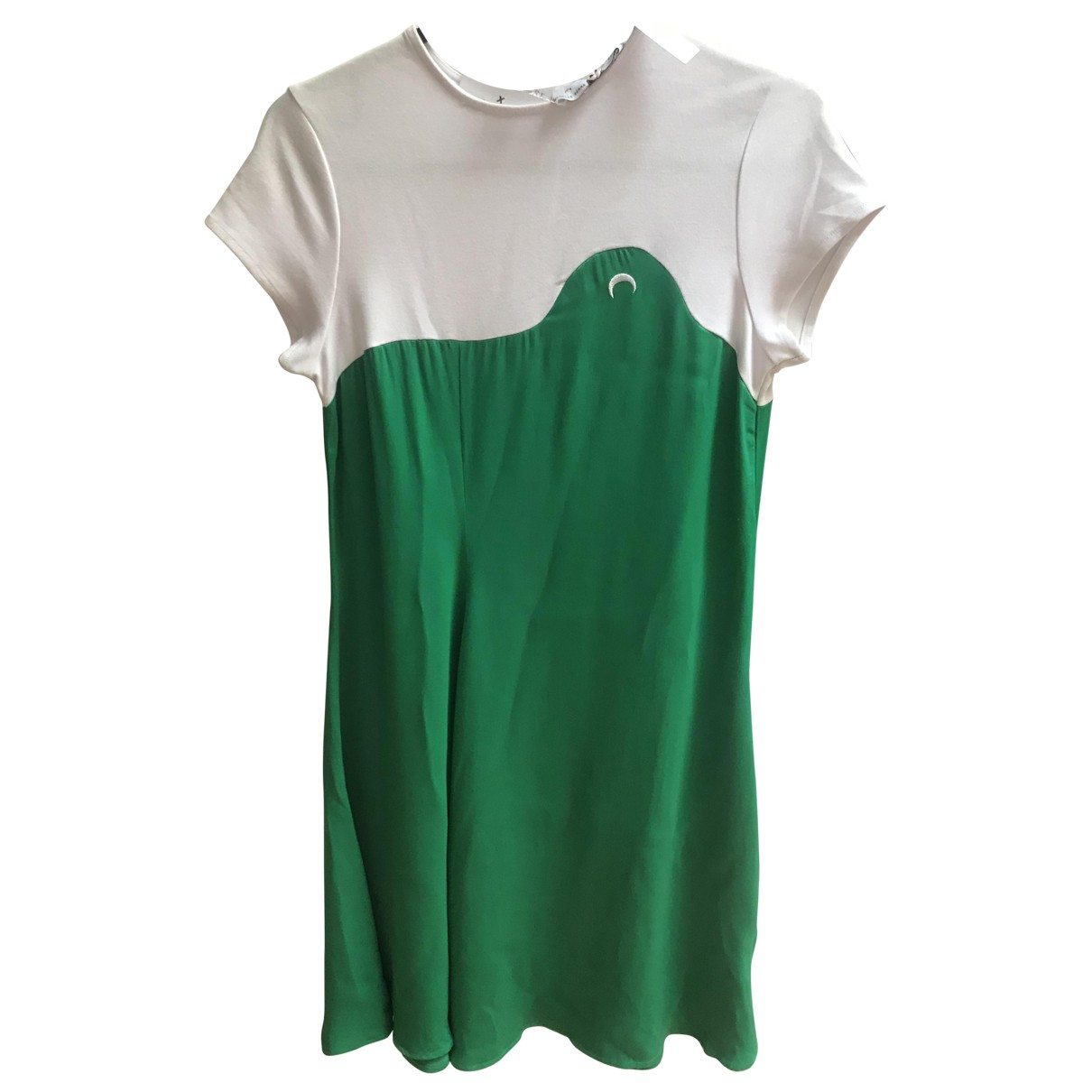 Marine Serre - Robe   pour femme en coton - vert