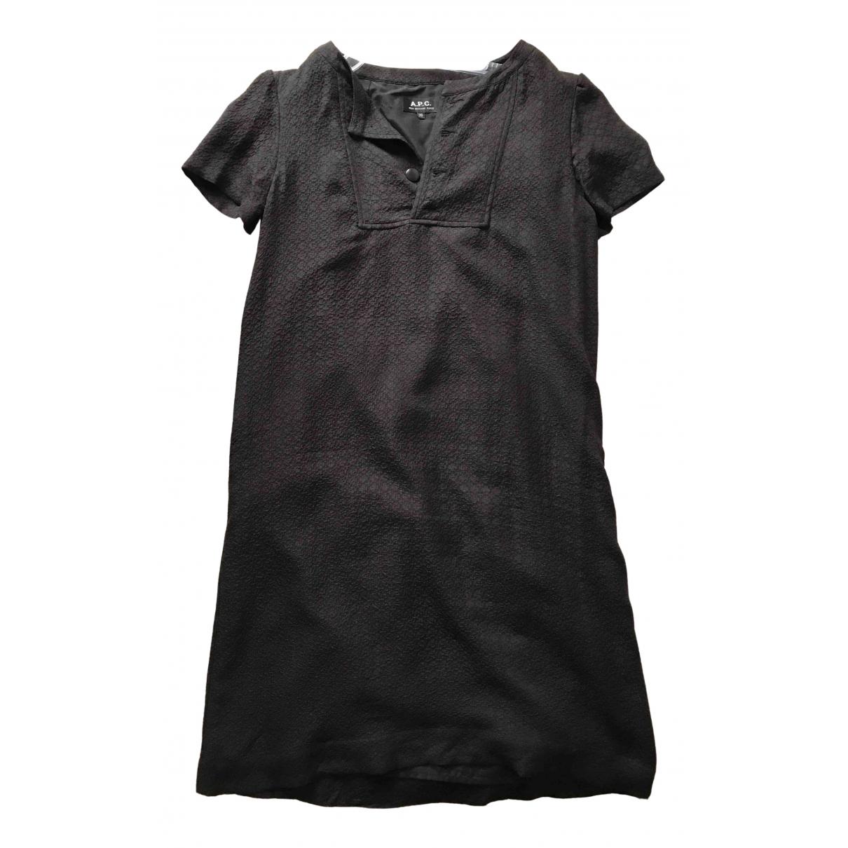 Apc - Robe   pour femme en soie - noir