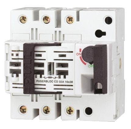 Socomec 25 A 3P Fused Isolator Switch, 10 x 38 mm Fuse Size