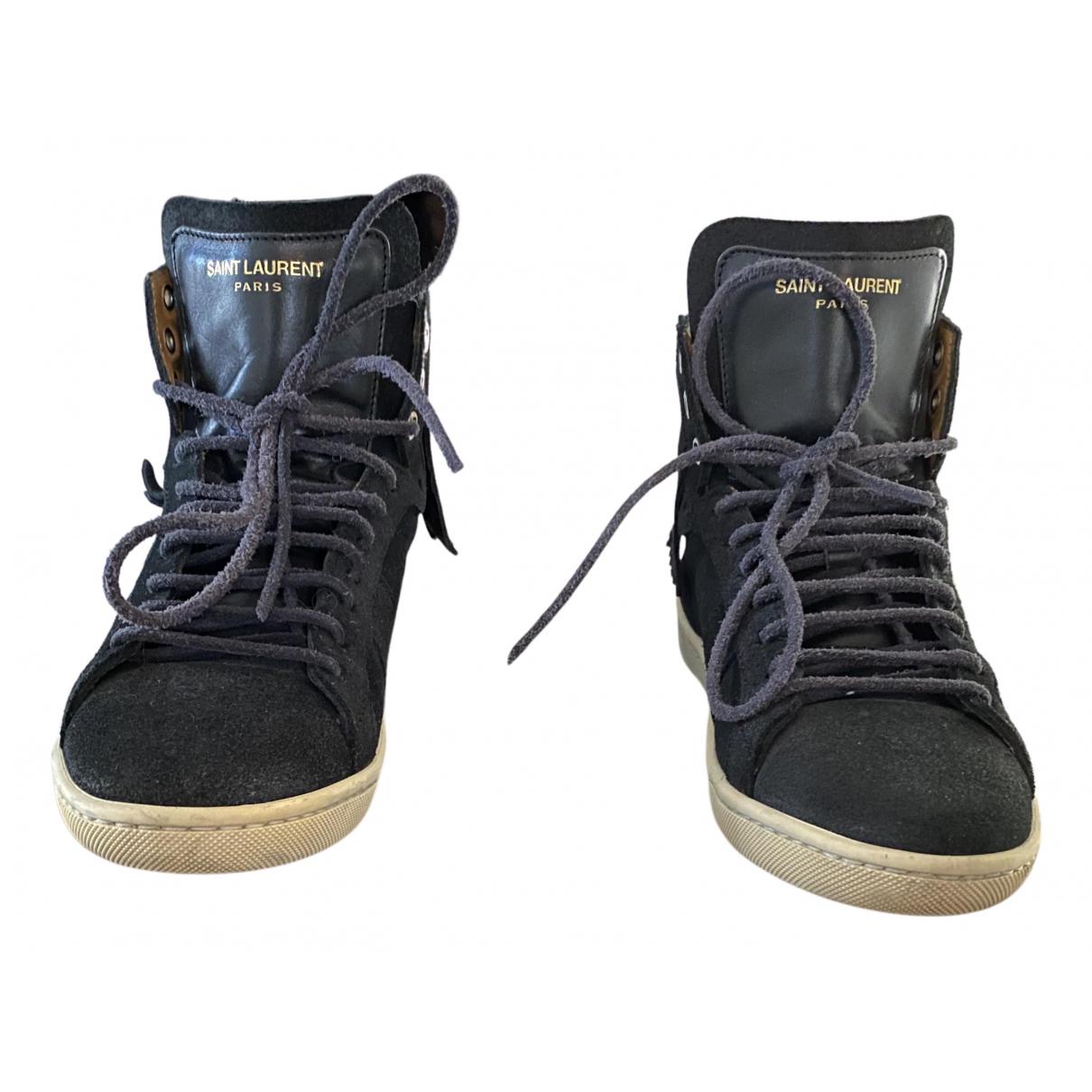 Saint Laurent \N Sneakers in  Schwarz Veloursleder