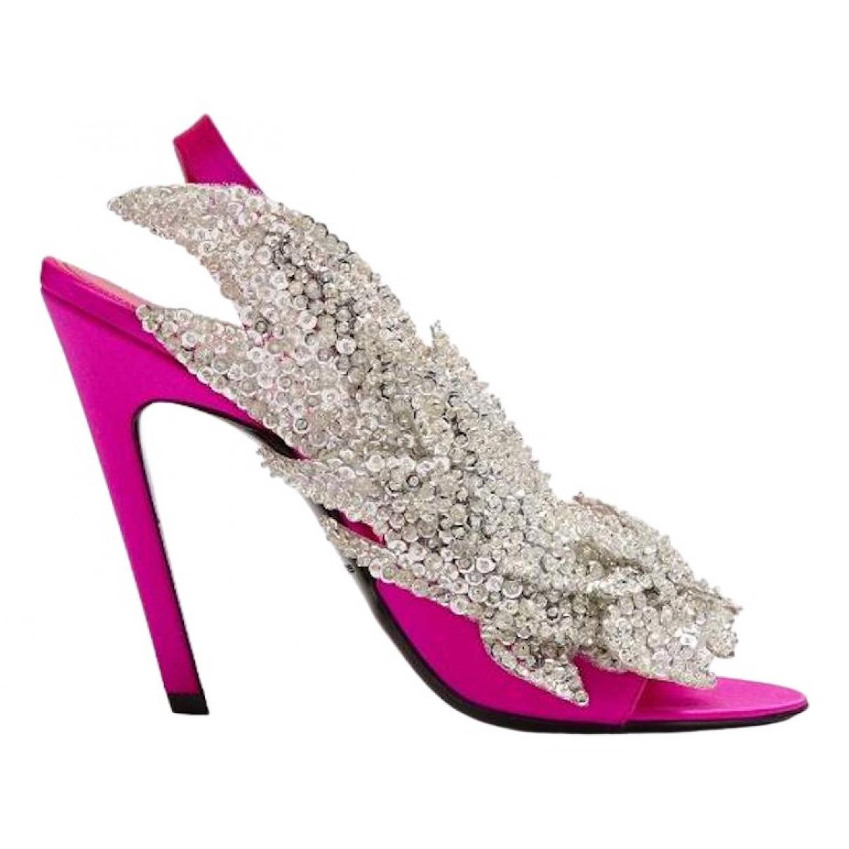 Balenciaga - Sandales   pour femme en toile - rose