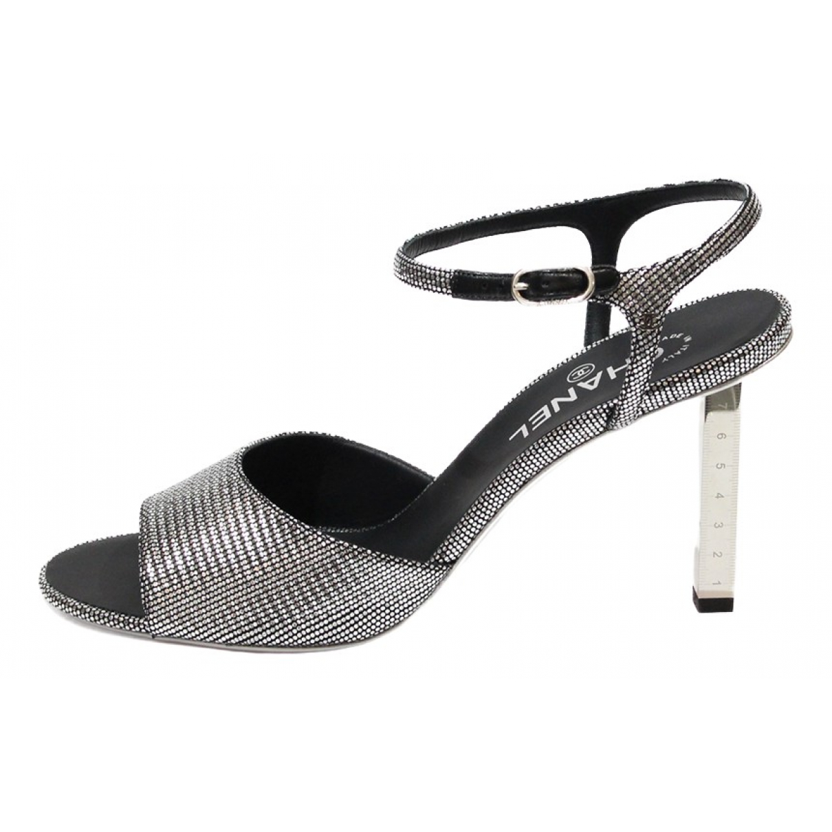 Chanel \N Silver Cloth Sandals for Women 40.5 EU