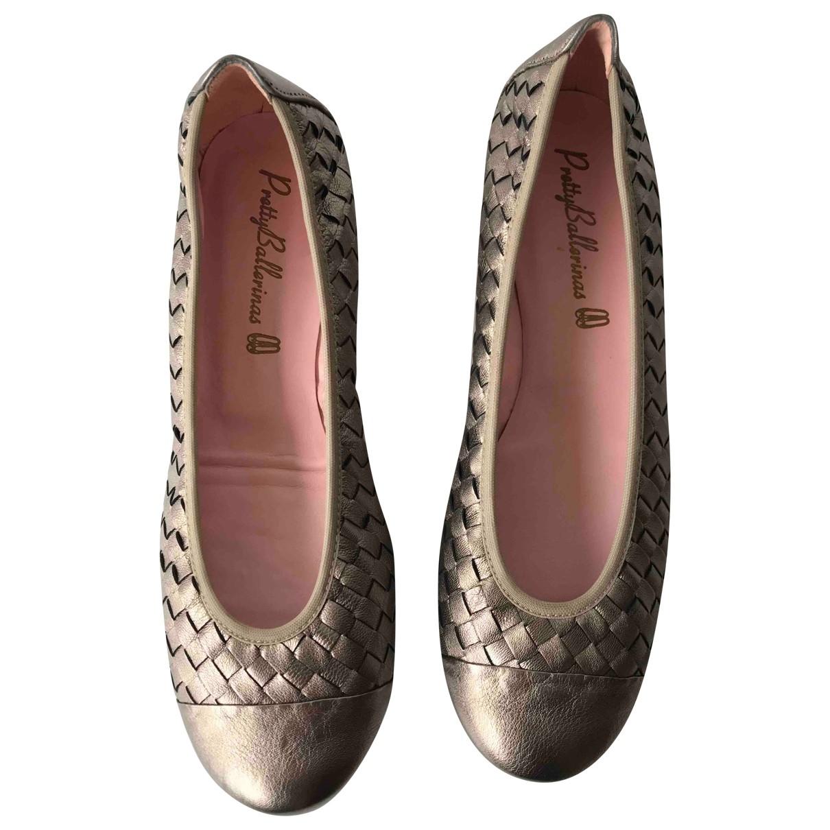 Pretty Ballerinas \N Leather Ballet flats for Women 39 EU