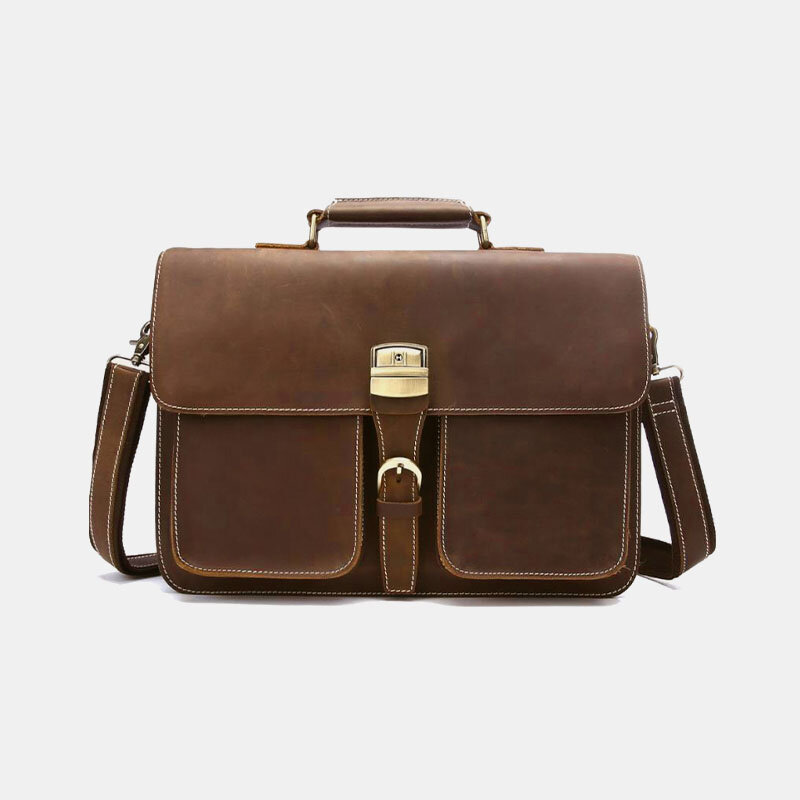 Men Multifunction 14 Inch Laptop Briefcase Business Handbag Crossbody Bag
