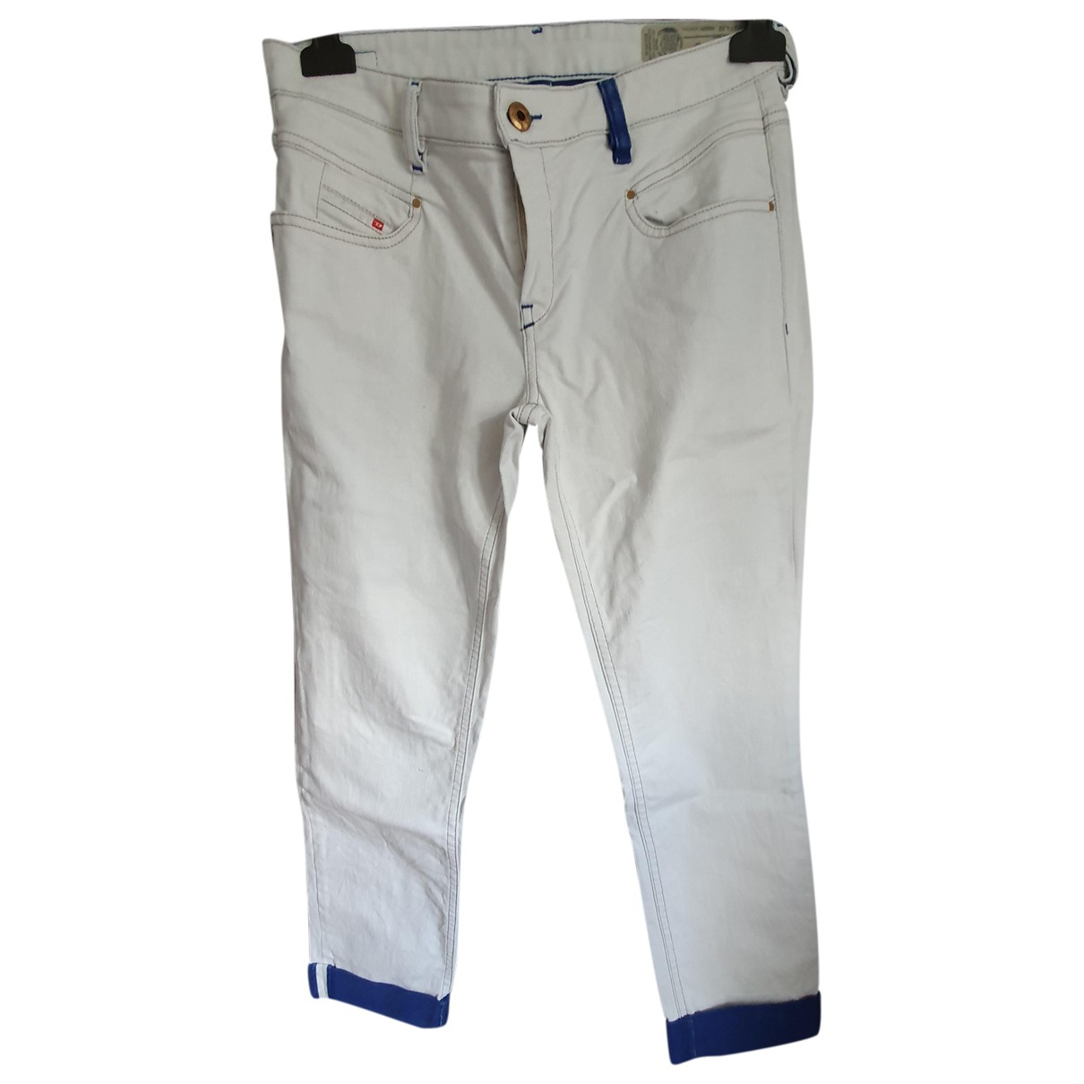 Diesel - Pantalon   pour femme en denim - blanc