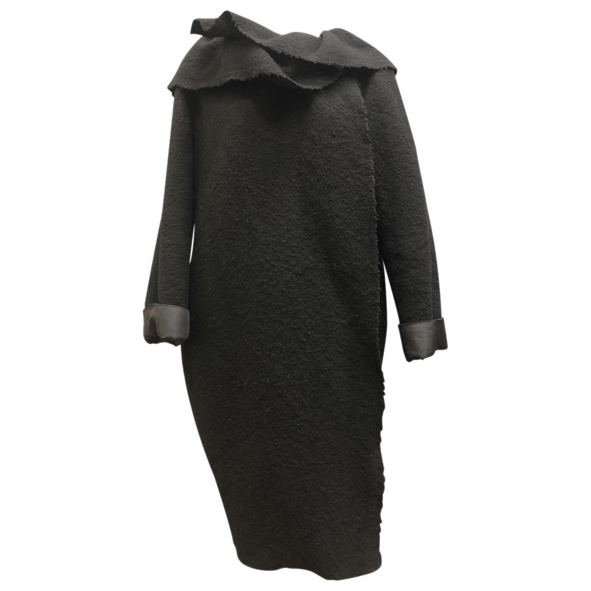 Lanvin \N Maentel in  Schwarz Wolle