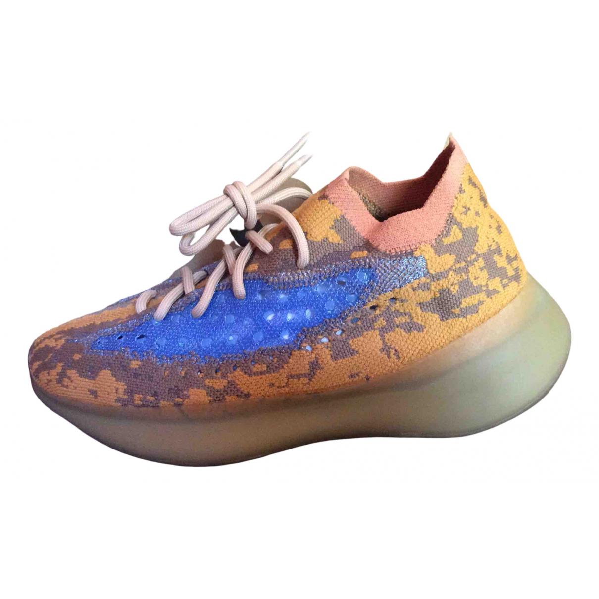 Yeezy X Adidas Boost 380 Sneakers in  Blau Leinen