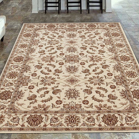 Como Kashan Traditional Oriental Area Rug, One Size , White