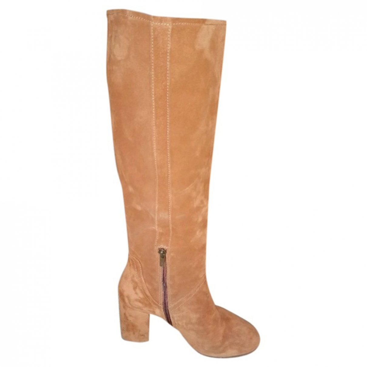 Non Signé / Unsigned \N Camel Leather Boots for Women 39 EU