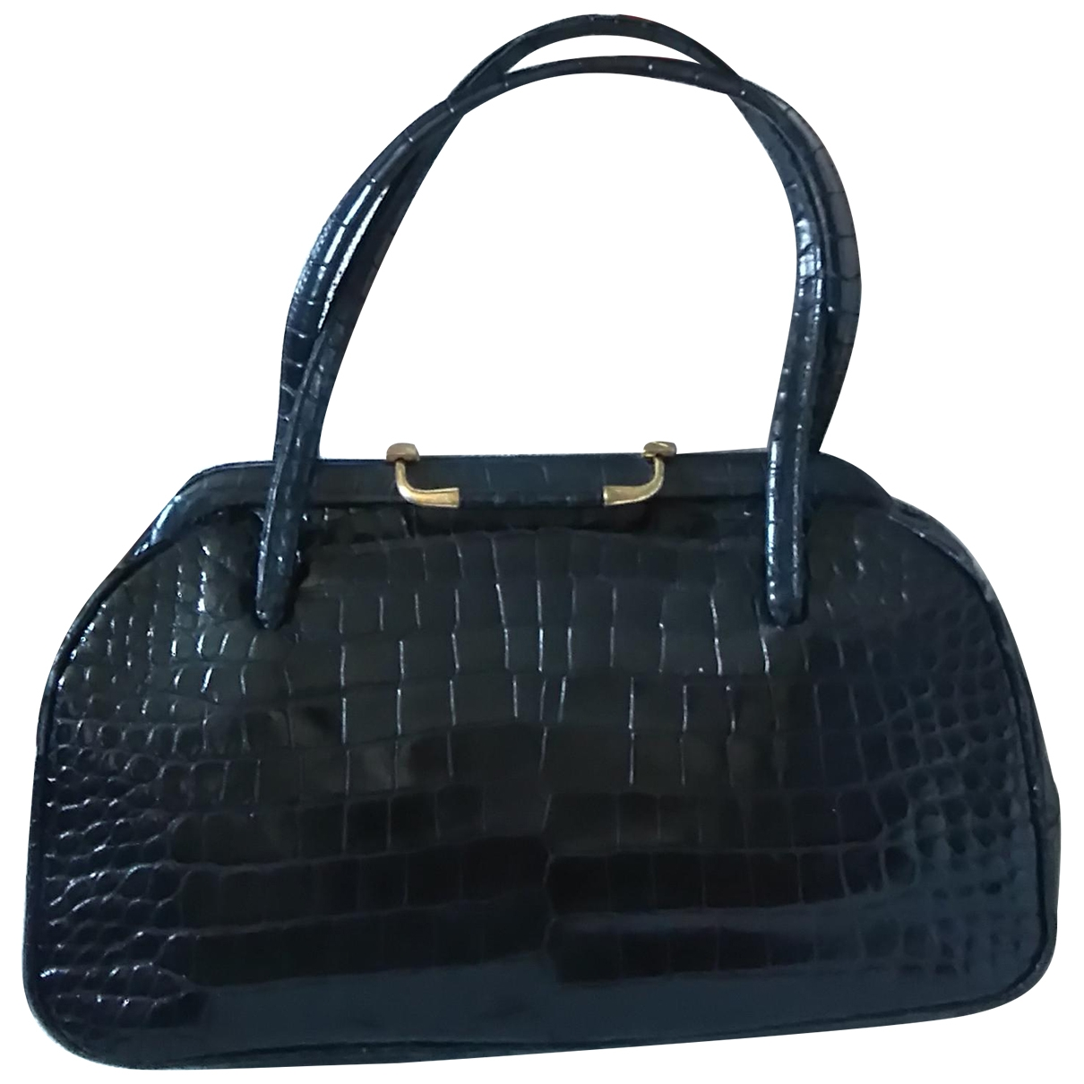 Non Signé / Unsigned \N Black Alligator handbag for Women \N