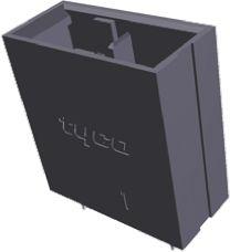 TE Connectivity , Dynamic 4000, 2 Way, 1 Row, Straight PCB Header