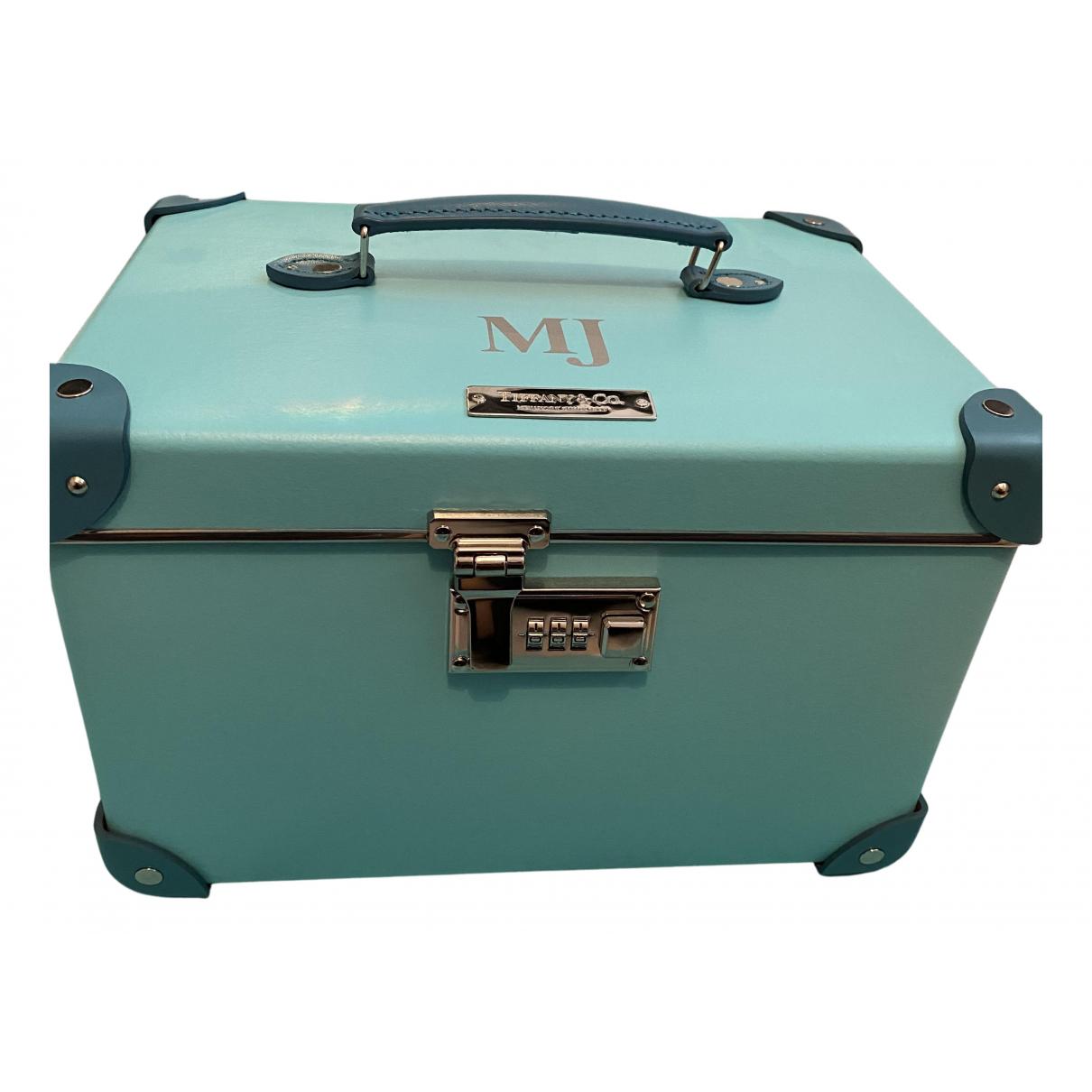 Tiffany & Co - Sac de voyage   pour femme en cuir - bleu