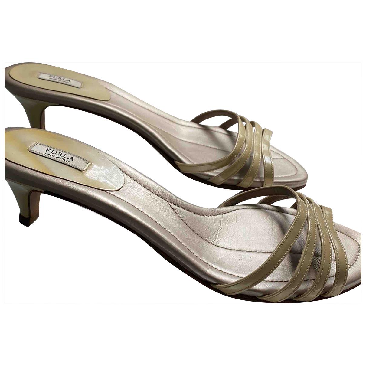Furla \N Beige Leather Sandals for Women 38 EU