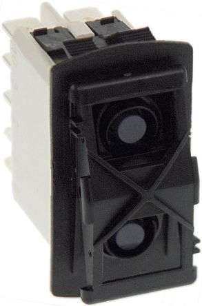 APEM Illuminated Double Pole Double Throw (DPDT), On-Off-On Rocker Switch Panel Mount