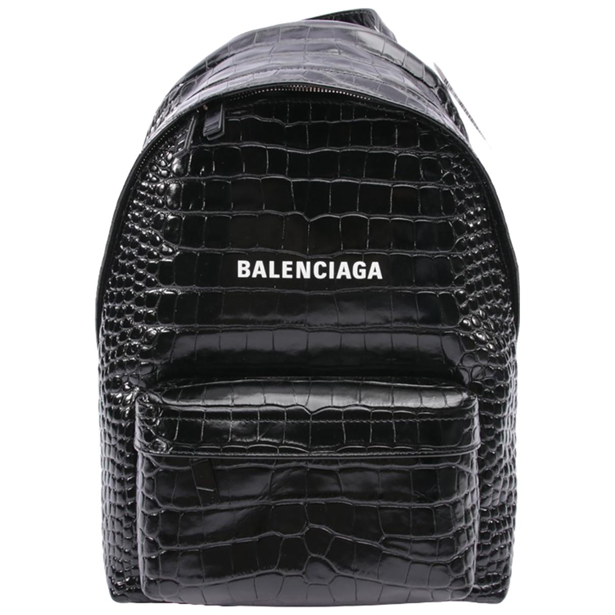 Balenciaga \N Black Leather backpack for Women \N