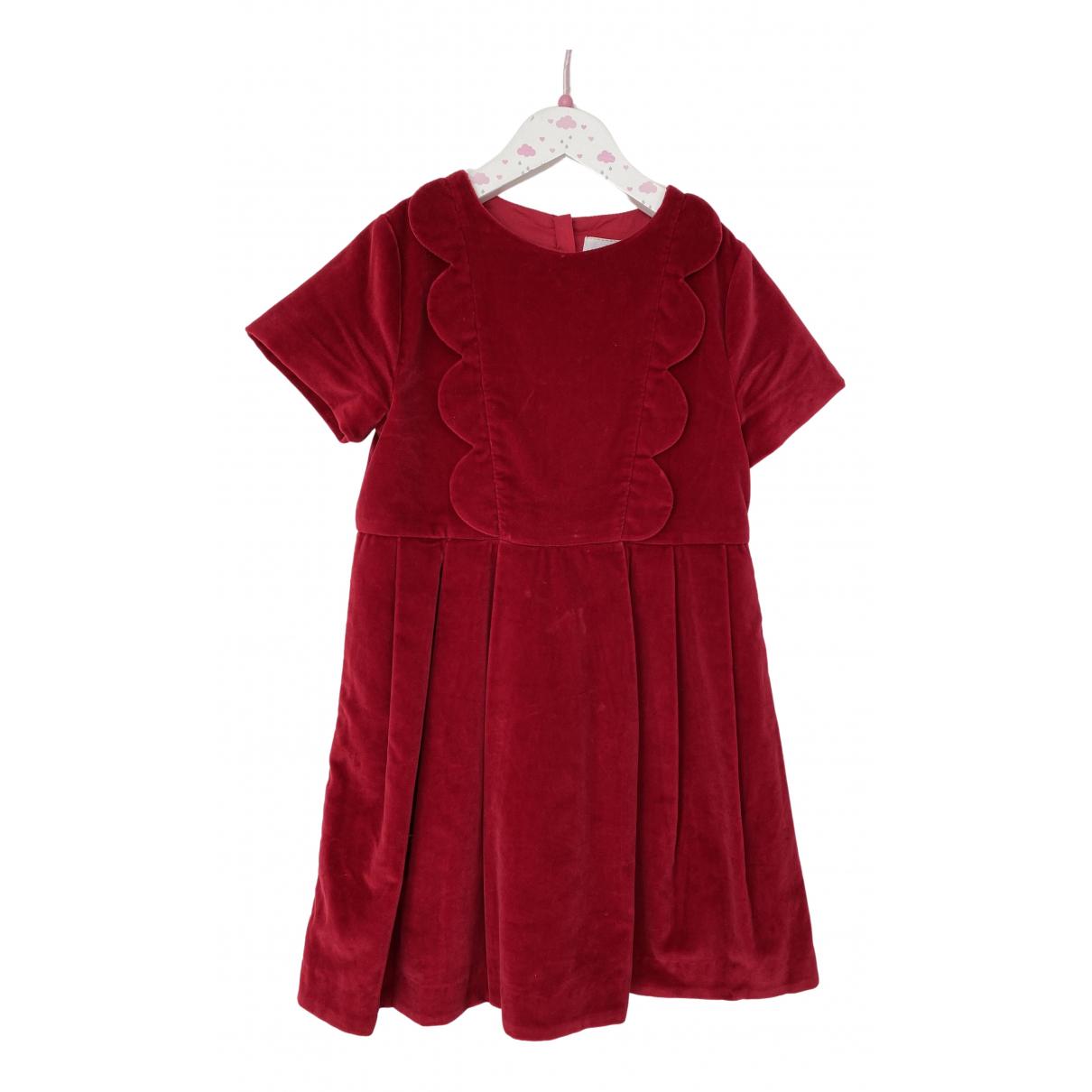 Jacadi N Red Velvet dress for Kids 8 years - up to 128cm FR