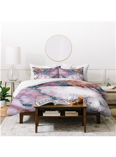 Crease-resistant Natural Style 4-Piece Polyester Bedding Sets/Duvet Cover