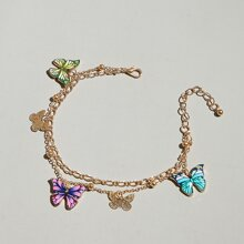 Butterfly Charm Anklet