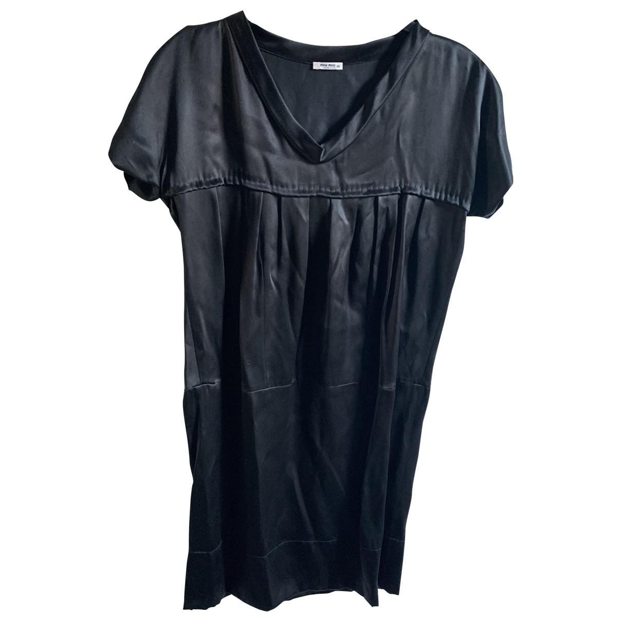 Miu Miu - Robe   pour femme en soie - noir
