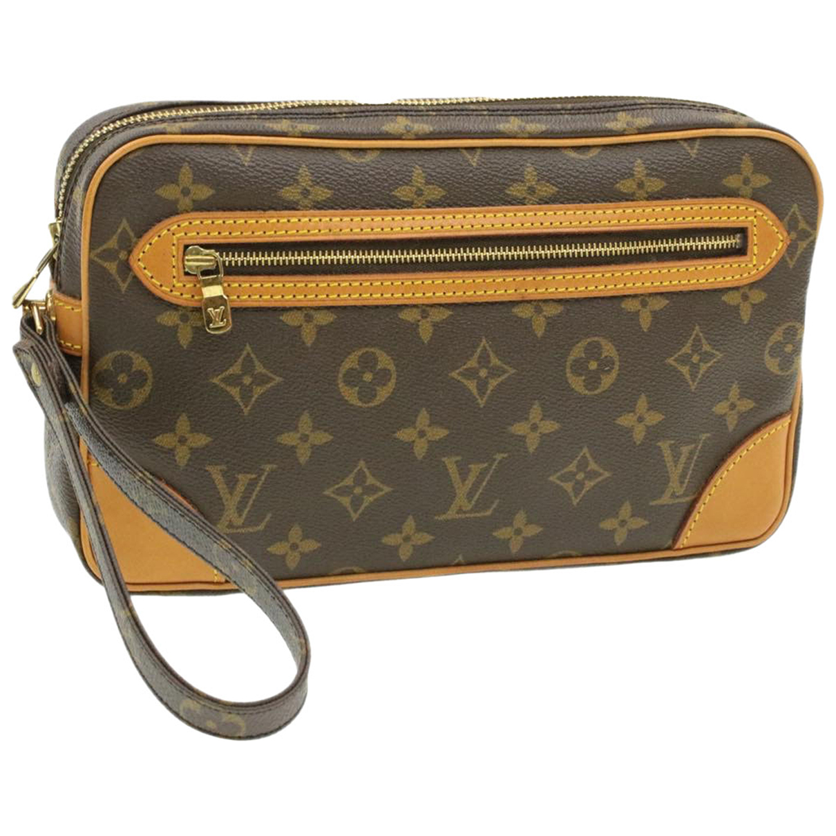 Louis Vuitton Marly Dragonne  Brown Cloth Clutch bag for Women \N