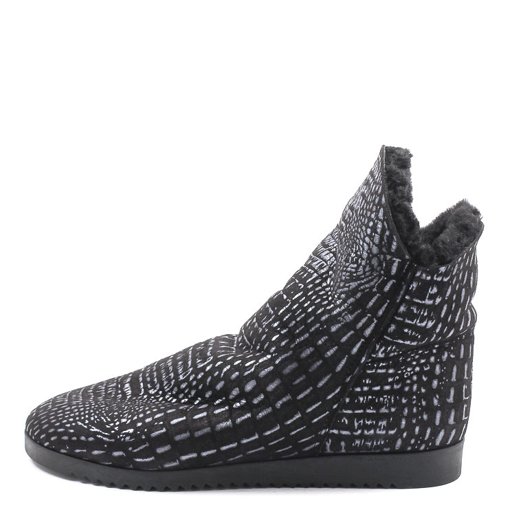 Arche, Baosha Women's Lambskin Slip-on Shoes, black-grey Größe 43