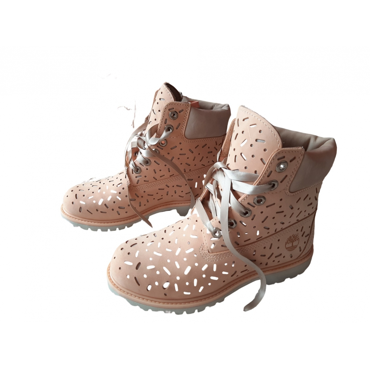 Timberland \N Beige Leather Ankle boots for Women 38 EU