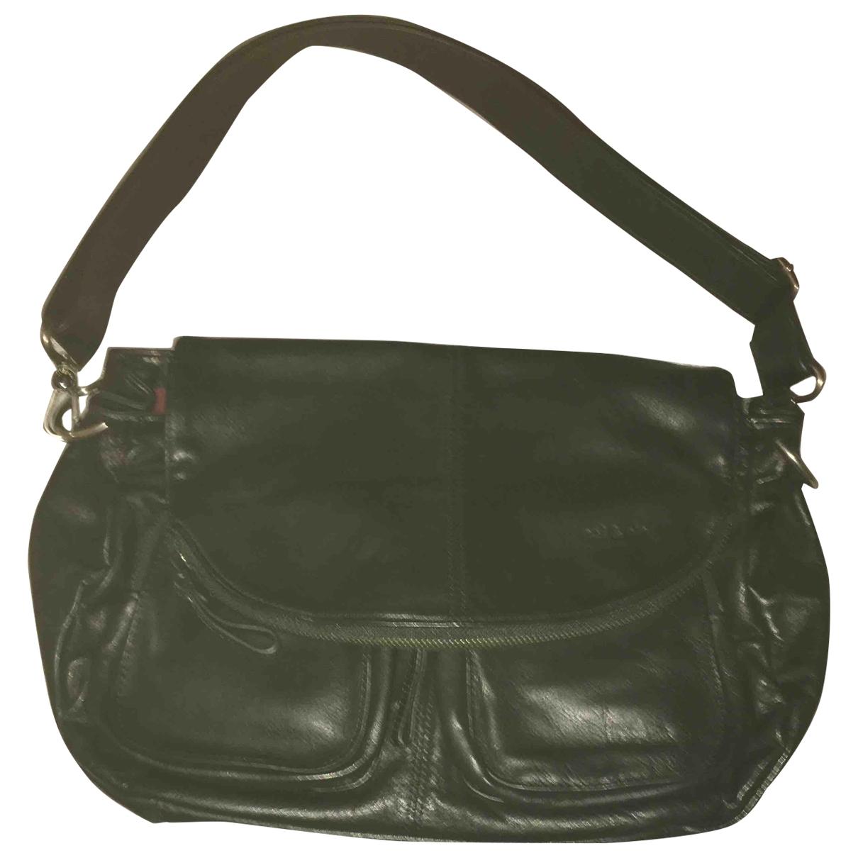 Nat & Nin \N Black Leather handbag for Women \N