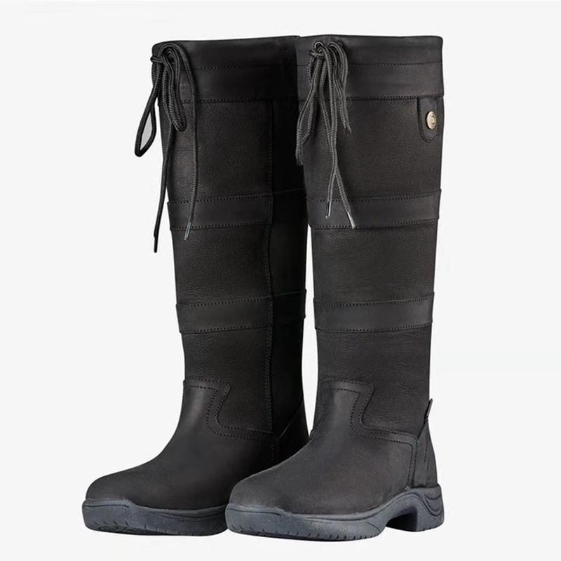 Ericdress Plain Round Toe Block Heel Thread Boots