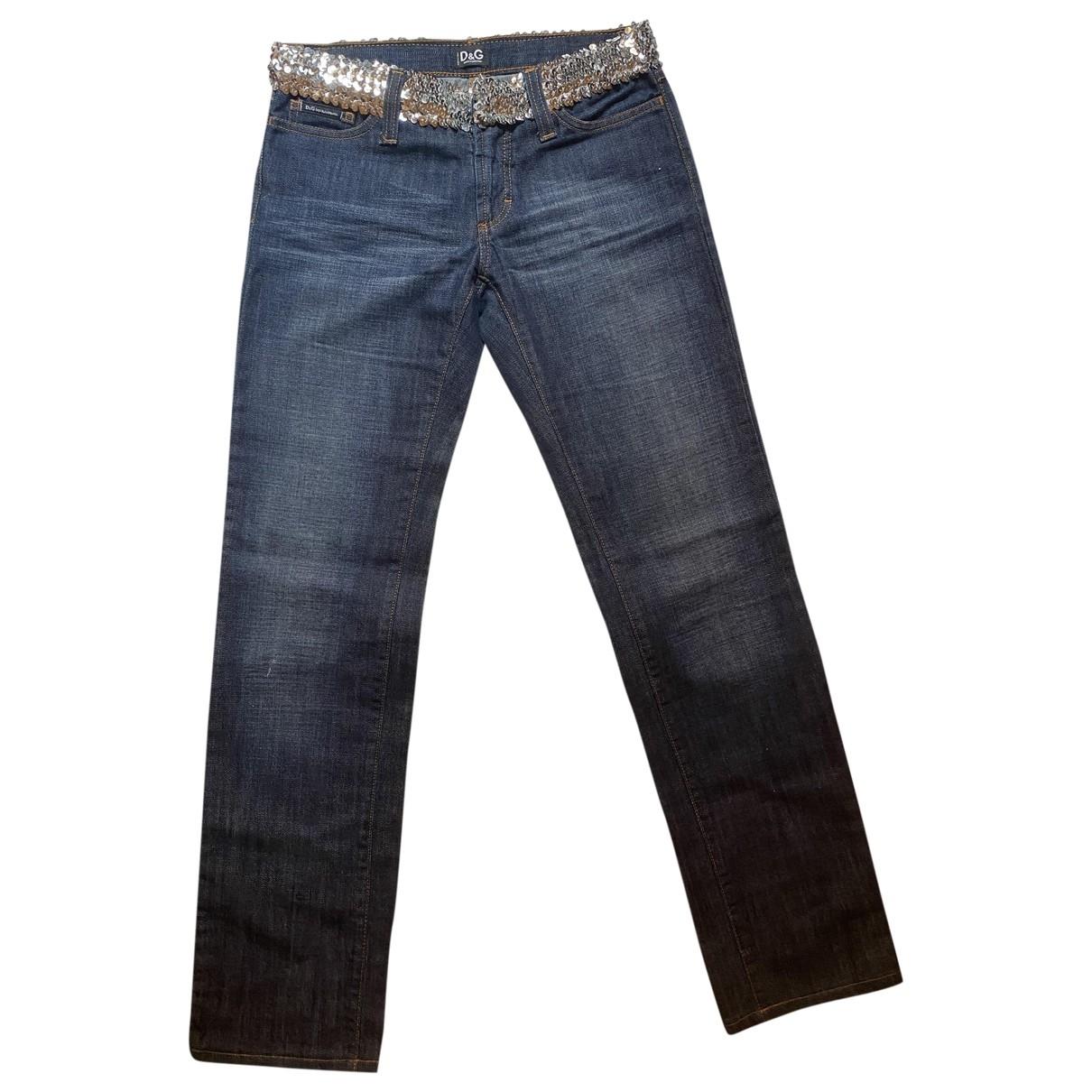 D&g \N Blue Denim - Jeans Jeans for Women 36 FR