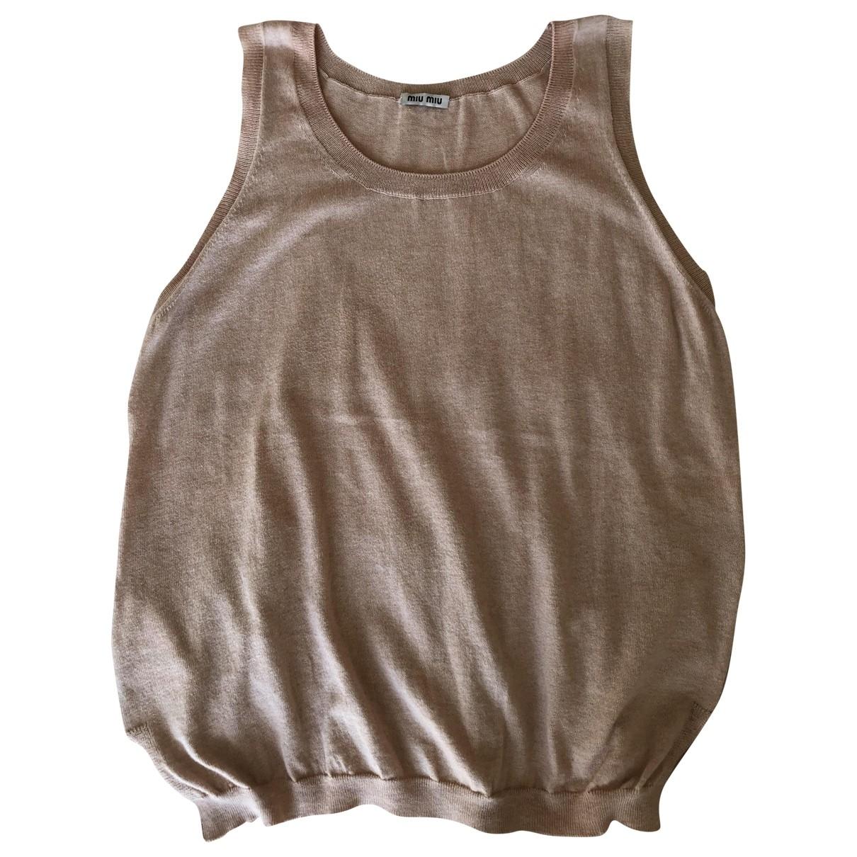 Camiseta sin mangas Miu Miu
