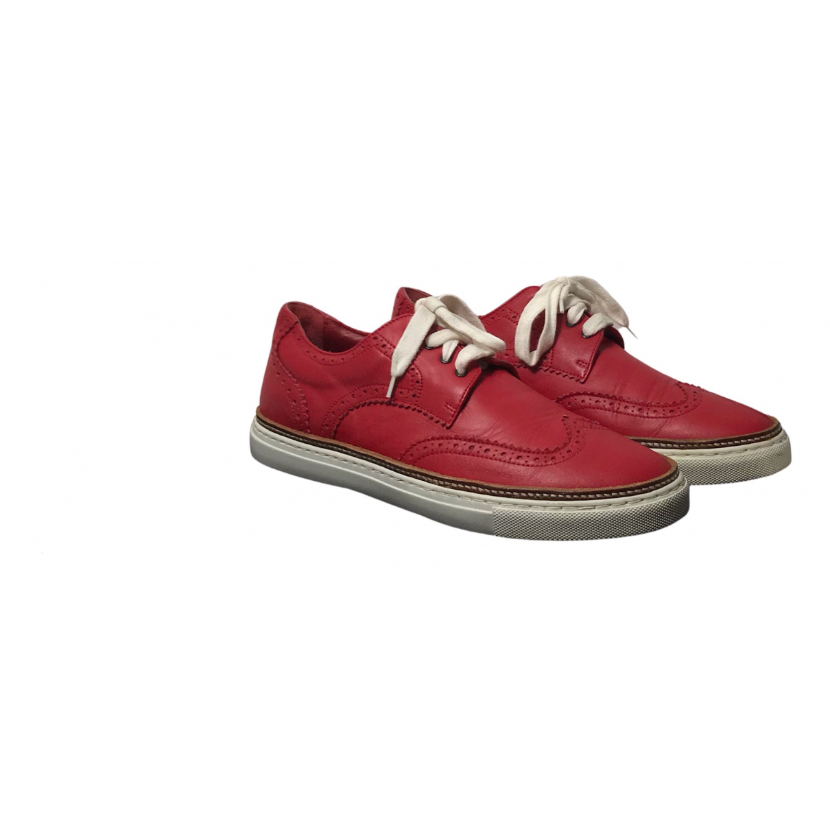 Dsquared2 N Red Patent leather Trainers for Men 10 UK