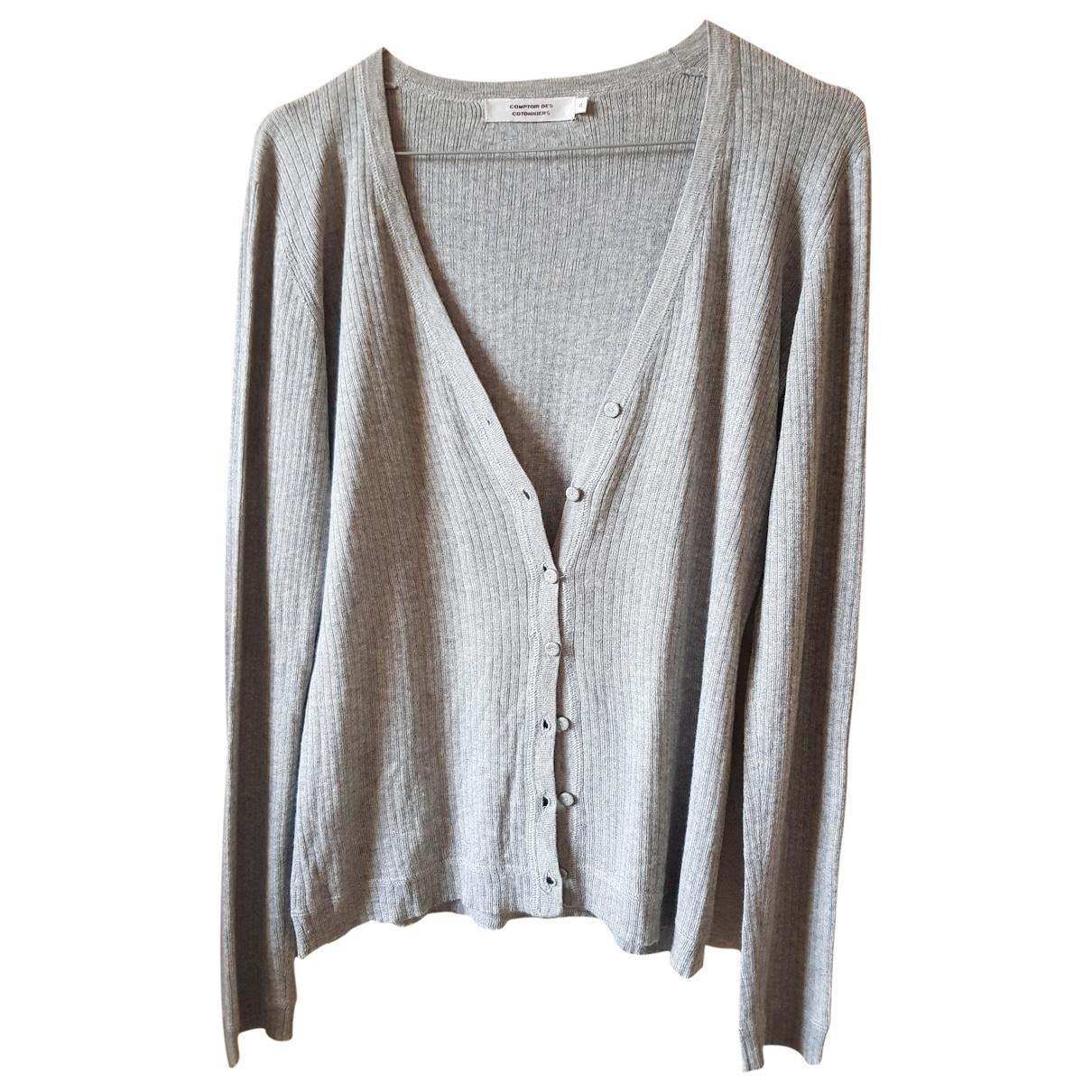 Comptoir Des Cotonniers \N Pullover in  Grau Seide